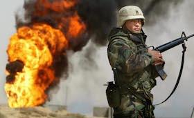 Oil Fires Burn In Iraq