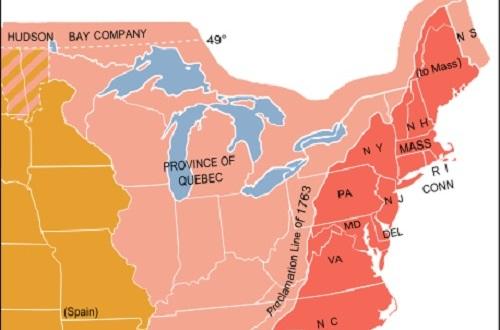 O conflito envolveu as 13 colônias britânicas na América do Norte, que mais tarde dariam início aos Estados Unidos: Massachusetts, Rhode Island, Connecticut, New Hampshire, New Jersey, New York, Pensilvânia, Delaware, Virgínia, Maryland, Carolina do Norte, Carolina do Sul e Geórgia.