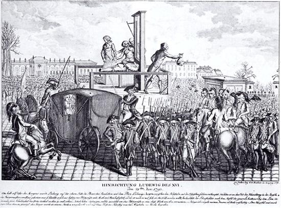 Áustria e Prússia invadem a França em 1792, apoiados pela nobreza refugiada e pelo próprio rei Luis XVI, que sonhava em voltar ao poder. Nesse meio tempo, os jacobinos, liderados por Robespierre, Jean Paul Marat e Danton, aprovam as propostas de extinção da monarquia, a prisão do rei e implantação da República. <br>A pressão popular fez com que se formasse uma nova Assembleia para preparar outra Constituição. Foi formada a Convenção, que fortaleceu os jacobinos. A República foi proclamada, em 20 de setembro de 1792. No ano seguinte, o rei Luis XVI é guilhotinado.