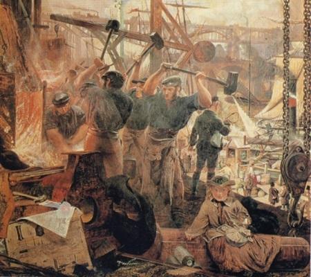 Em 1740, o inglês Benjamin Huntsman inventou uma técnica de fabricação de aço em larga escala. Cem anos depois, surge o processo de Bessemer, mais eficaz na remoção de impurezas. (Foto: Wikimedia Commons)