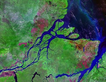 Em 1978, os oito países que fazem parte da bacia do rio Amazonas assinaram o Tratado de Cooperação Amazônica. Um dos objetivos é promover o desenvolvimento integrado e sustentável da bacia. Para isso, foi criada a Organização do Tratado de Cooperação Amazônica. (Foto: Wikimedia Commons)