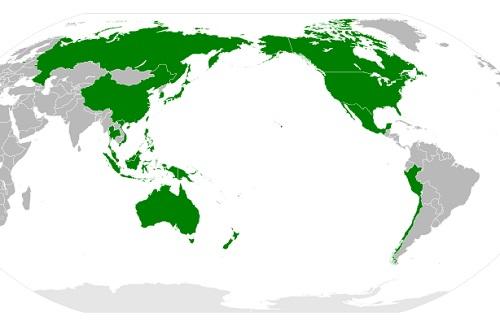 A Cooperação Econômica Ásia-Pacífico engloba países das Américas, da Oceania e, como o próprio nome deixa claro, da Ásia. Criada como um fórum de discussão no final da década de 80, virou um bloco econômico em 1994. Estados Unidos e China são alguns dos membros da APEC, que ainda não é uma área de livre comércio. (Foto: Wikimedia Commons)