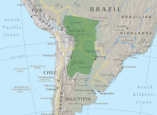 O Chaco é um grande pedaço de terra que se estende dos andes bolivianos ao pantanal brasileiro. Dependendo da época do ano, o terreno é pantanoso ou desértico. Por esse motivo, em 1935, a região não era lá grandes coisas em termos de atividade econômica. (Foto: Creative Commons)