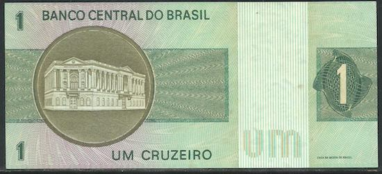 No ano de 1970, o novo foi retirado do nome da moeda, que voltou a ser apenas Cruzeiro. O valor, no entanto, continuou o mesmo.