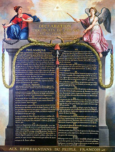 Durante a Revolução Francesa foi elaborado o primeiro documento sobre os direitos humanos no mundo. Era a Declaração dos Direitos do Homem e do Cidadão.