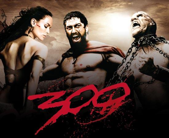 300 (2006) - É um relato da Batalha das Termópilas, na qual o Rei Leônidas e 300 espartanos lutaram até a morte contra Xerxes e seu exército persa. Enfrentando dificuldades insuperáveis, o sacrifício desses homens levou toda a Grécia a se unir contra o inimigo persa, traçando um marco no caminho para a democracia.