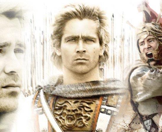 """Alexandre (2004) - Recriação da história de Alexandre, o Grande, que no quarto século antes de Cristo havia conquistado a Grécia, a Pérsia, o Afeganistão e a Índia - ou seja, 90% do """"Mundo Conhecido"""" até então."""