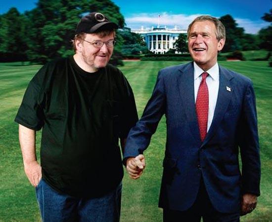 Fahrenheit 9/11 (2004) - O diretor Michael Moore investiga como os Estados Unidos se tornaram alvo de terroristas, a partir dos eventos ocorridos no atentado de 11 de setembro de 2001. Os paralelos entre as duas gerações da família Bush que já comandaram o país e ainda as relações entre o atual Presidente americano, George W. Bush, e Osama Bin Laden.