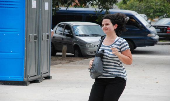 Candidata corre para entrar a tempo no prédio e fazer a prova da Fuvest