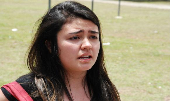 Patrícia Midori, que pensou que a prova começava às 14h e acabou perdendo o exame