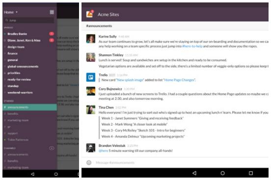 Outro app direcionado para equipes, mas com foco na comunicação. Trazendo uma combinação entre e-mail, chat e compartilhamento de arquivos, o Slack facilita o diálogo, já que com ele não é preciso ficar trocando o tempo todo entre um aplicativo e outro. O app para smartphone é, na verdade, uma extensão para a versão desktop - os dois podem ser sincronizados para que você continue o trabalho de onde estiver, a partir de dispositivos diferentes. (Imagem: Reprodução)
