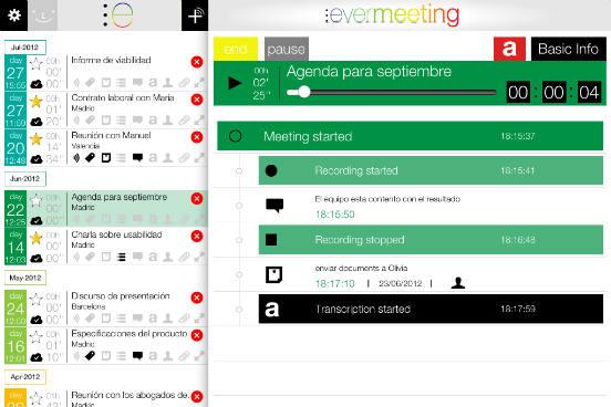 Bastante útil para administrar reuniões e conferências, o Evermeeting permite que você crie notas compartilhadas em tempo real e adicione a elas fotos ou qualquer outro tipo de material. Todo o conteúdo pode ser armazenado em nuvem, economizando espaço no smartphone e garantindo que ele possa ser acessado de qualquer dispositivo. Até o momento, o app está disponível apenas para iOS. (Imagem: Reprodução)