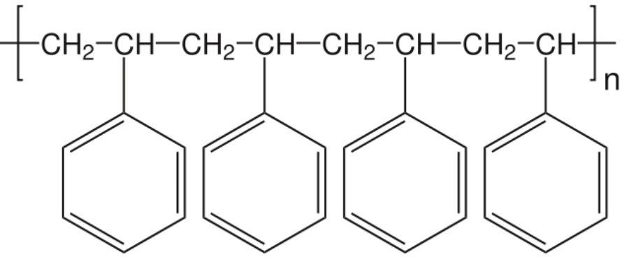 A IUPAC (União Internacional de Química Pura e Aplicada) estabelece que para dar nome aos polímeros deve-se utilizar o prefixo 'poli' + o nome da unidade estrutural que o constitui entre parênteses. Já na nomenclatura usual utiliza-se o prefixo poli + o nome do monômero de onde se obtém o polímero. Assim, tem-se os nomes poli (metileno) e polietileno para o mesmo polímero conforme essas nomenclaturas. (Imagem: Wikimedia Commons)