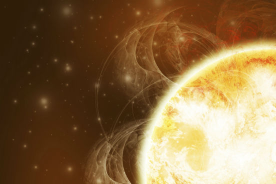 O processo em que acontece a união de núcleos pequenos, dando origem a um núcleo maior e liberando uma grande quantidade de energia, é chamado de fusão nuclear. Essa reação acontece no Sol e nas estrelas, onde o principal tipo de fusão é o de hidrogênio em hélio. (Imagem: iStock)