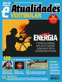 """A matéria """"O Mundo Movido a Petróleo"""", vencedora do Prêmio Nacional de Conservação e Uso Racional de Energia, foi capa da edição de agosto de 2008 do GUIA DO ESTUDANTE."""