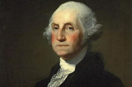 O primeiro presidente da nova nação foi George Washington, que tinha sido o comandante do exército continental durante a rebelião. Washington governou por dois mandatos, entre 1789 e 1797. (Foto: Wikimedia Commons)