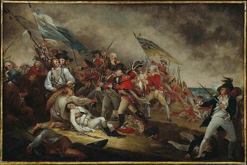 A princípio os colonos passaram a protestar pacificamente, mas logo o conflito explodiu. Uma das batalhas mais importantes foi a de Bunker Hill, em 1775, que terminou com vitória britânica. (Foto: Wikimedia Commons)