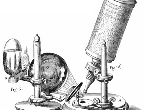Para isso, ele usou uma espécie de microscópio primitivo, que foi fundamental para a publicação da obra mais importante do pesquisador, o livro  Micrographia. (Foto: Wikimedia Commons)