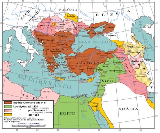 Os califados já fizeram parte do mundo Islâmico, sendo o sistema de governo que vigorou desde a morte de Maomé até o Império Otomano. (Foto: Wikimedia Commons)