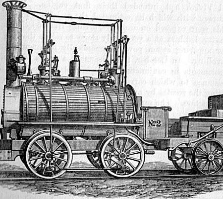 A locomotiva foi inventada em 1814 pelo engenheiro britânico George Stephenson. A criação aumentou a velocidade dos deslocamentos terrestres. (Foto: Wikimedia Commons)