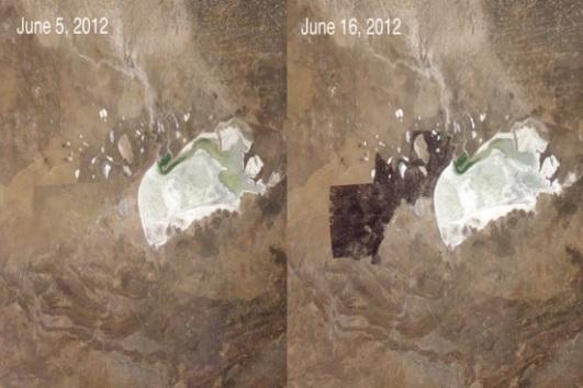 Incêndios naturais são importantes para natureza, eles contribuem para renovação da vegetação. Na Naníbia, os gestores do Parque Nacional de Etosha tentaram evitá-los e tiveram problemas. As ações resultaram em um incêndio incontrolável que devastou o parque em 2012. (Imagem: NASA)