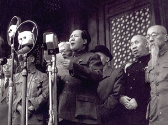Após uma Guerra Civil que começou em 1927, em 1º de outubro de 1949 Mao Tsé-Tung anunciou a fundação da República Popular da China. (Foto: Wikimedia Commons)