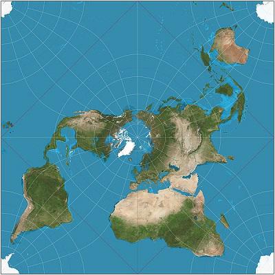 A distorção que um mapa vai mostrar varia de acordo com o objetivo dele. De forma geral, uma projeção cartográfica é usada para preservar corretamente as informações que são necessárias para o uso daquele mapa em si. É por isso que existem muitos tipos de projeções, cada um mais indicado para determinado uso. (Foto: Wikimedia Commons)