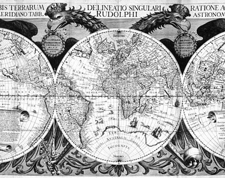 A cartografia é a ciência da produção e do estudo dos mapas. A palavra foi usada pela primeira vez numa carta, em 1839, trocada entre os historiadores Manuel Francisco Carvalhosa e Francisco Adolfo de Varnhagen. (Foto: Wikimedia Commons)