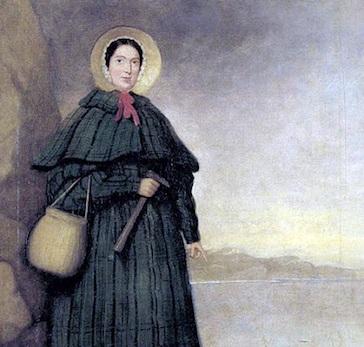 A birtânica Mary Anning fez fama no mundo da paleontologia. Ela descobriu diversos fósseis, entre eles o primeiro ictiossauro. Muitas das descobertas de Anning estão expostas no Museu de História Natural de Londres.