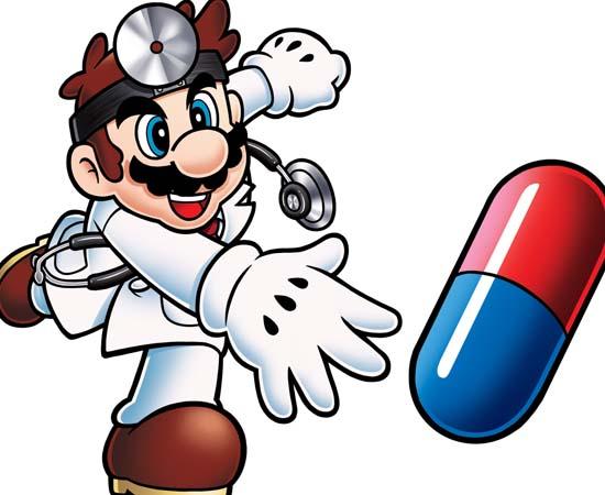 Dr. Mario do jogo homônimo lançado pela Nintendo.