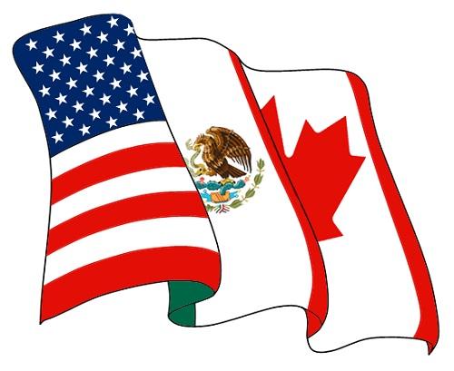 Como a imagem deixa claro, o NAFTA - Tratado Norte-Americano de Livre Comércio - envolve Estados Unidos, Canadá e México. Fundado em meados da década de 90, o NAFTA tem uma população de cerca de 460 milhões de habitantes. (Foto: Wikimedia Commons)