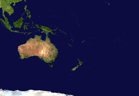 Se as Américas são o Novo Mundo, a Oceania é novíssima. A Austrália e as ilhas espalhadas por aquela parte do Oceano Pacífico só foram colonizadas a partir de 1770. (Foto: Wikimedia Commons)