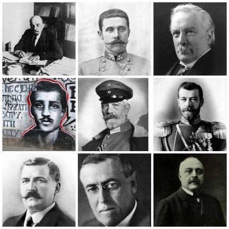 Este mês, a Primeira Guerra Mundial completou 100 anos. Iniciado no dia 1º de agosto de 1914, o conflito se estendeu até 11 de novembro de 1918 e provocou grandes mudanças no continente europeu  e em todo o mundo. Saiba quais são as principais figuras da guerra.