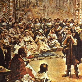 Já a Poesia Palaciana traz a visão de mundo dos nobres e fidalgos portugueses. Nela, o amor é tratado de forma mais sensual e a mulher é menos idealizada do que no trovadorismo.