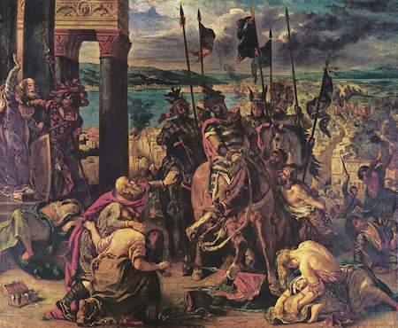 O exército cruzado acabou topando o acordo e Enrico Dandolo embarcou com eles rumo a Jerusalém, com um pit stop na Croácia. Por ali, eles começaram uma guerra sangrenta, matando , inclusive, muitos cristão croatas que se aproximavam com crucifixos para mostrar que estavam do mesmo lado. O papa Inocêncio III ameaçou a todos de descomunhão, mas não adiantou. Dandolo seguiu para Constantinopla e conquistou o lugar, mas os guerreiros das cruzadas nunca pisaram em Jerusalém. (Foto: Creative Commons)