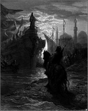 Em 1202, o exército cruzado queria chegar a Jerusalém para reconquistar a cidade, que estava sob domínio muçulmano desde 1187. No entanto, não tinham dinheiro para bancar a empreitada. Sabendo disso, Enrico Dandolo, doge de Veneza, se ofereceu para bancar a viagem, mas com a condição de que o exército o ajudasse, primeiro, a conquistar Zara, uma cidade na Croácia. (Foto: Creative Commons)