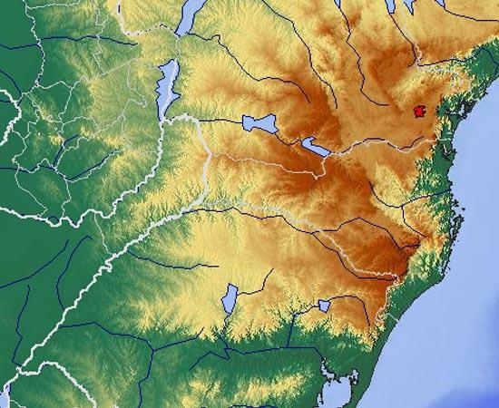 RELEVO DO BRASIL - Estude sobre os principais tipos de relevo do território nacional, como a depressão do Araguaia, os planaltos e serras do Atlântico Leste-Sudeste, e as planícies e tabuleiros litorâneos.