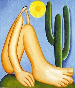 Também na pintura, o modernismo brasileiro teve um nome feminino de peso. Foi Tarsila do Amaral, autora de um dos mais importantes quadros já feitos no Brasil: Abaporu, de 1928. A obra é um marco na antropofagia modernista, que absorvia a cultura estrangeira, mas sempre fazendo adaptações para o contexto brasileiro.