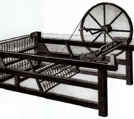 Os britânicos John Kaye e James Hargreaves foram fundamentais na indústria dos tecidos. O primeiro inventou a lançadeira volante para tear. Passados 34 anos, Hargreaves criou uma fiandeira de pedal para suceder a máquina de Kay. (Foto: Wikimedia Commons)