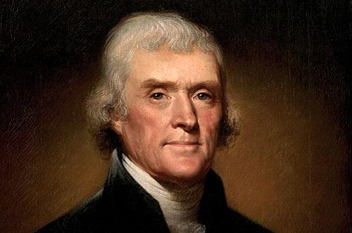 Outra figura importante da época foi Thomas Jefferson, o principal redator da Declaração da Independência e um dos pais fundadores do país. Ele foi também o terceiro presidente dos Estados Unidos, governando entre 1801 e 1809. (Foto: Wikimedia Commons)