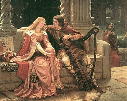 Já as cantigas de amigo têm origem popular. Nelas, o eu-lírico é feminino. Ocorre o uso de recursos literários típicos da tradição oral, que facilitam a memorização das canções.