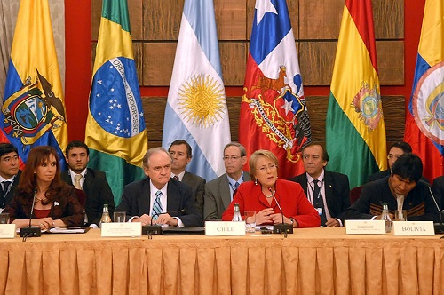 A Unasul tem como membros doze países da América do Sul, entre eles o Brasil. O tratado que criou a organização foi aprovado em 2008, durante uma reunião em Brasília. Na ocasião foi definido que a sede do bloco será em Quito, no Equador. (Foto: Wikimedia Commons)