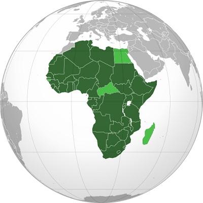 Fundada em 2002, a União Africana visa gerar a cooperação política, econômica e cultural no continente. Com uma população de quase 1 bilhão de habitantes, a União Africana tem 54 países, praticamente todos os da África. (Foto: Wikimedia Commons)