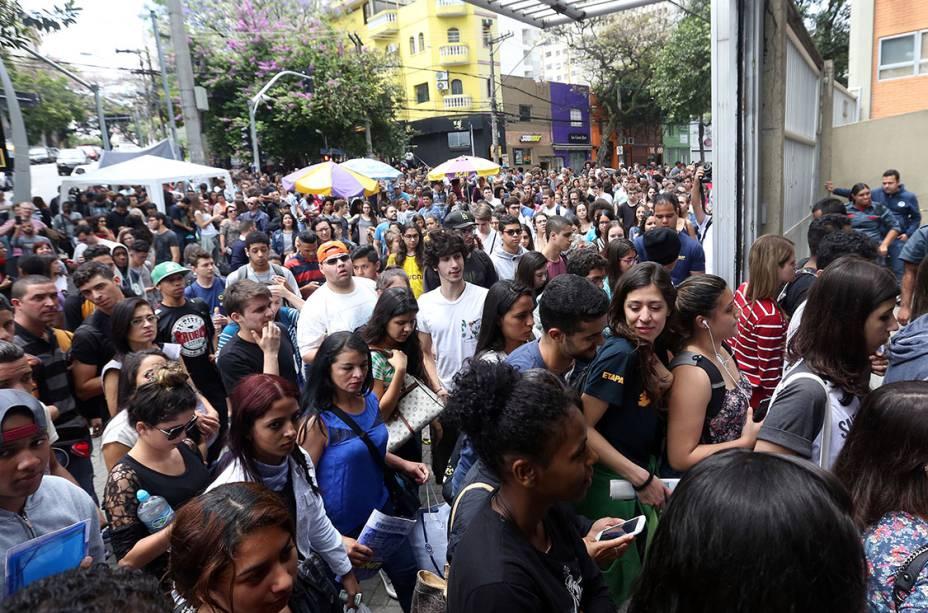 Portões são abertos para o segundo dia de prova do Enem 2016, em São Paulo (Ricardo Matsukawa/VEJA.com)