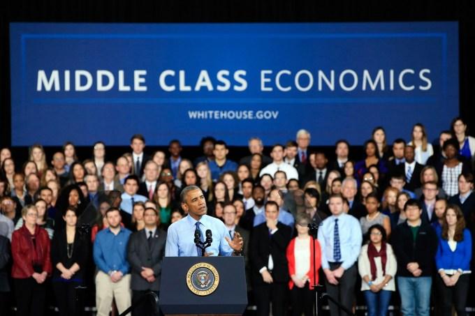 President Obama Speaks At The University Of Kansas