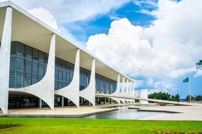 Planalto Palace in Brasilia, Capital of Brazil