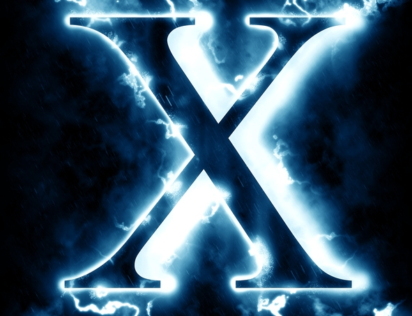 Lightning letter X