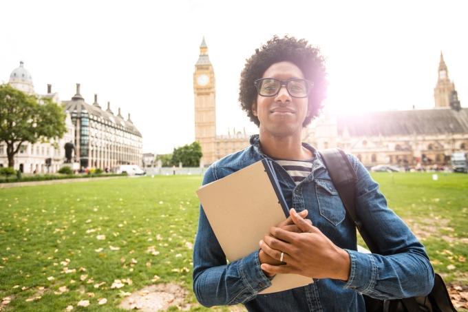 Estudante de intercâmbio em Londres