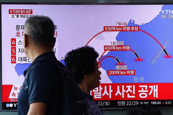 lançamento do míssil norte-coreano