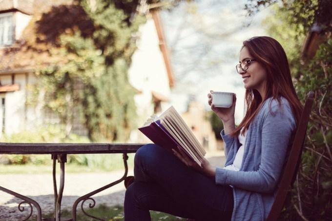Lendo livro nas férias